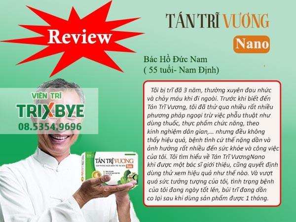 Review Tán Trĩ Vương Nano