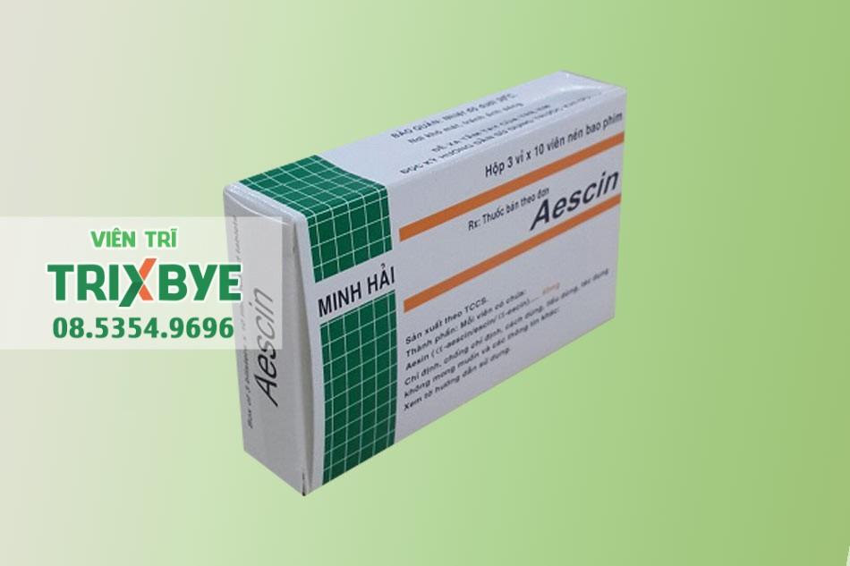 Hình ảnh hộp thuốc Aescin