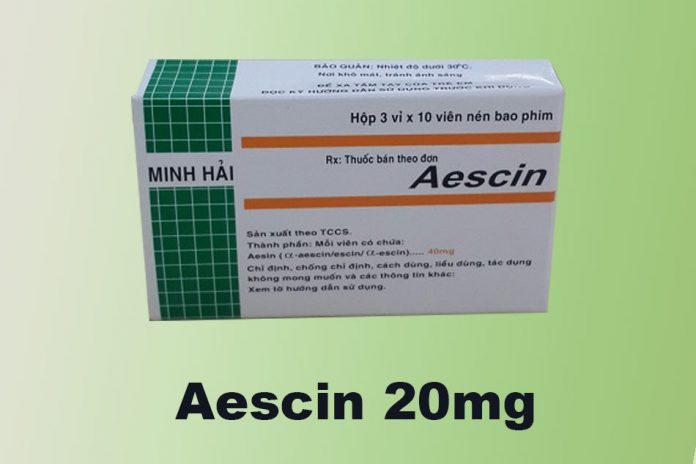 Thuốc Aescin 20mg